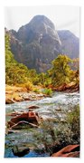 River In Zion National Park Beach Towel