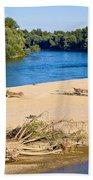 River Of Drava Green Nature Beach Towel