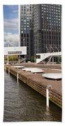 River Promenade In Rotterdam Beach Sheet
