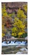 River Rapids In Zion Beach Towel