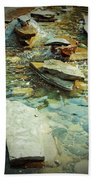 River Rock Path Beach Towel