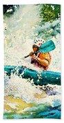 River Rocket Beach Towel by Hanne Lore Koehler