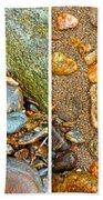River Rocks 9 In Stereo Beach Towel