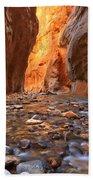 River Rocks In The Narrows Beach Towel