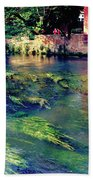 River Sile In Treviso Italy Beach Towel