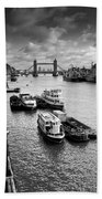 River Thames View Beach Towel