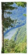 River Thru The Trees Beach Towel