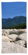 River With Mountain Beach Towel