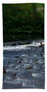 River Wye Waterfall - In Peak District - England Beach Towel