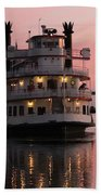 Riverboat At Sunset Beach Towel