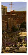 Riverfront Concert Beach Towel by Diana Powell