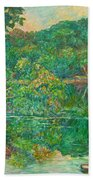 Riverview Reflections Beach Towel
