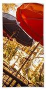 Riverwalk Umbrellas Beach Towel