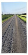 Road Across North Dakota Prairie Beach Towel