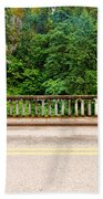 Road And Lush Green Forest Beach Towel