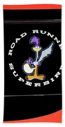 Road Runner Superbird Emblem Beach Towel by Jill Reger