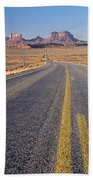 Road Through Monument Valley, Utah Beach Towel
