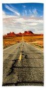 Road To Navajo Beach Towel