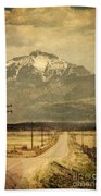 Road To The Mountains Beach Towel