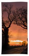 Road To The Night Beach Towel