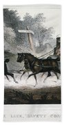 Road Travel/stagecoach Beach Towel
