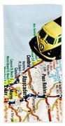 Road Trip - The Pch Beach Towel by Benjamin Yeager