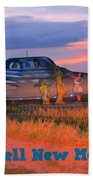 Roadside Attraction At Roswell Beach Towel