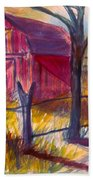 Roadside Barn Beach Towel