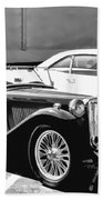 Roadster In Black And White Beach Towel