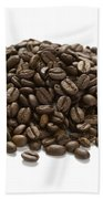 Roasted Coffee Beans Beach Towel