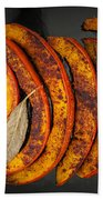 Roasted Pumpkin Slices Beach Towel