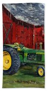 Rob Smith's Tractor Beach Towel by Lee Piper