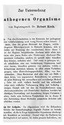 Robert Koch: Paper, 1881 Beach Towel