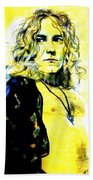 Robert Plant Of Led Zeppelin   Beach Towel