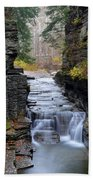 Robert Treman State Park Beach Towel by Frozen in Time Fine Art Photography