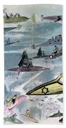 Robida Future Travel, C1902 Beach Towel