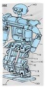 Robot Patent Beach Towel
