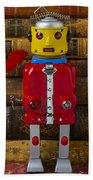 Robot With Butterfly Beach Sheet