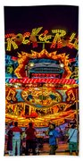 Rock And Roll On The Boardwalk Beach Towel