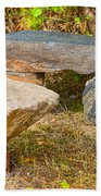 Rock Bench And Table Beach Towel