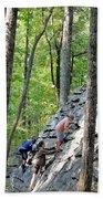 Rock Climbing Youths Beach Towel