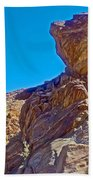 Rock Formation Higher Than Fan Palms Along Lower Palm Canyon Trail In Indian Canyons Near Palm Sprin Beach Towel