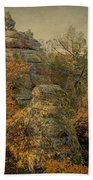 Rock Formation Beach Towel