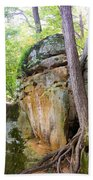 Rock Formation Wildcat Den State Park Beach Towel