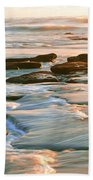Rock Formations At Windansea Beach, La Beach Towel