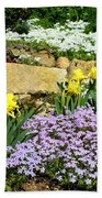 Rock Garden Flowers Beach Towel