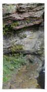 Rock Mill Water Fall In Ohio Beach Towel