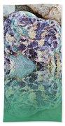 Rock Reflections - Water - Beach Beach Towel