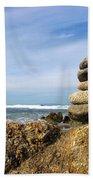 Rock Sculpture At The Beach Beach Towel