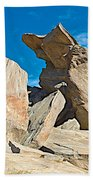 Rock Uplifts In Andreas Canyon In Indian Canyons-ca Beach Towel